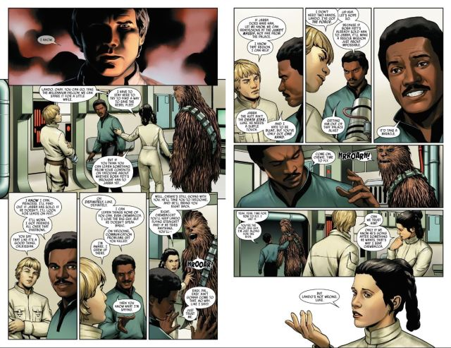 Star Wars (2020) #2 Lando talks with Leia and Luke