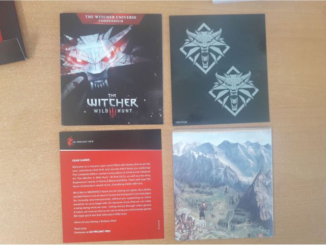 The Witcher 3 Complete Edition Switch goodies