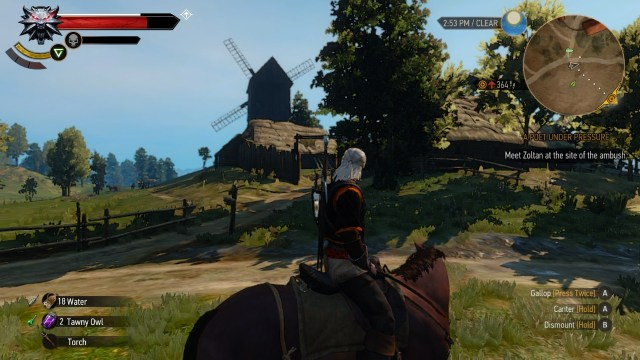 The Witcher 3 on Nintendo Switch Geralt riding