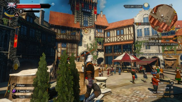 The Witcher 3 on Nintendo Switch streets of novigrad