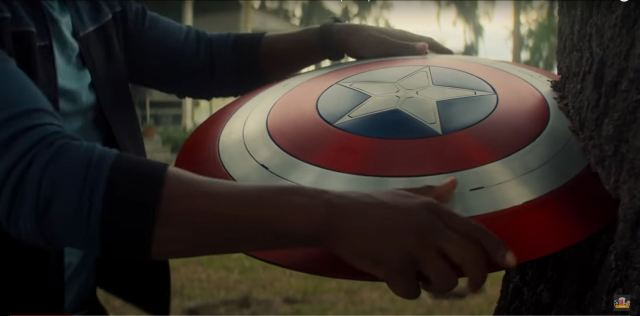 The Falcon and the Winter Soldier Wilson grabs the shield