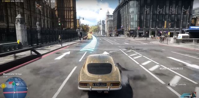 Watch Dogs Legions driving through London