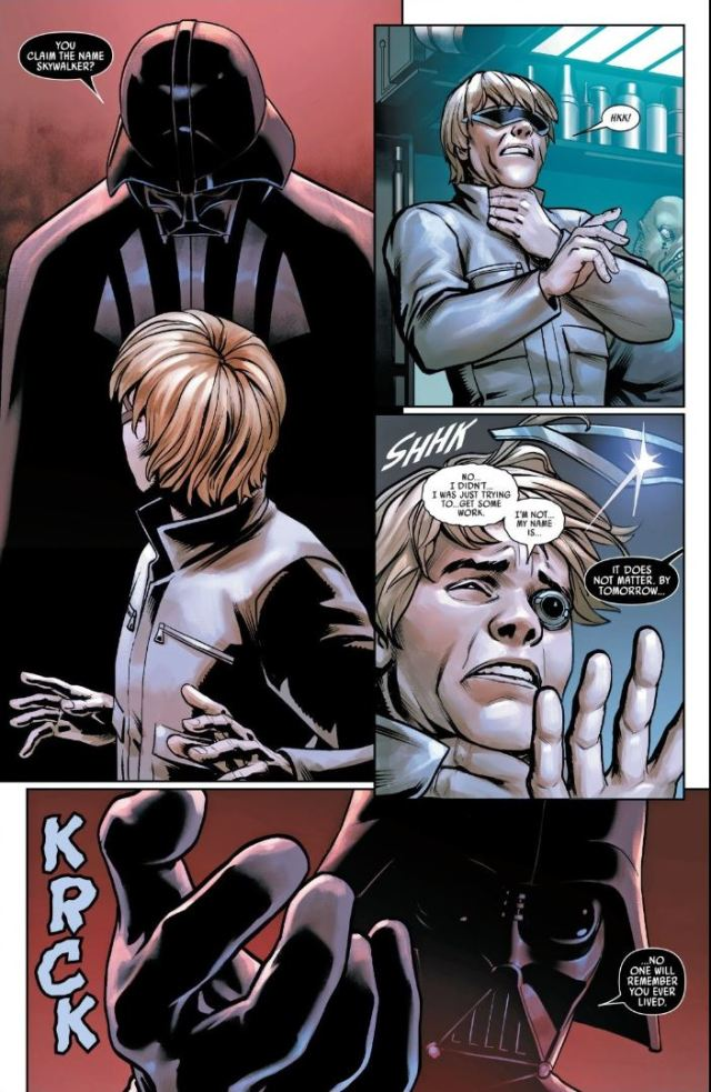 Star Wars (2020) #5 Vader strangles fake Luke