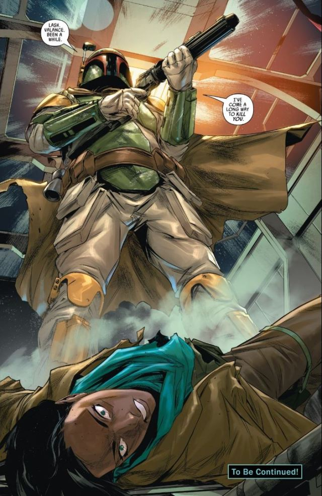 Star Wars Bounty Hunters #4 Boba Fett kills T'onga