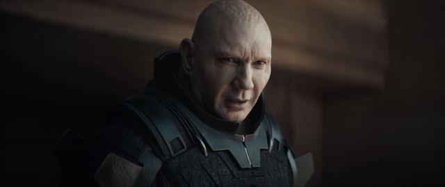 Dune movie trailer Dave Bautista as Glossu Rabban
