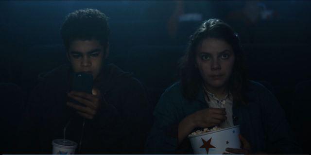 His Dark Materials Lyra and Will at the cinema
