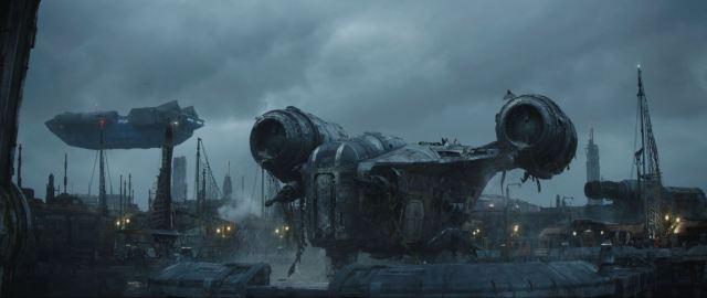 Mando's ship wrecked