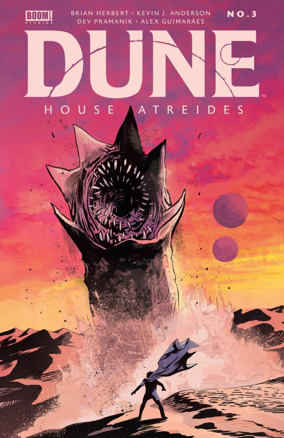 Dune House Atreides issue 3 cover by Michael Walsh