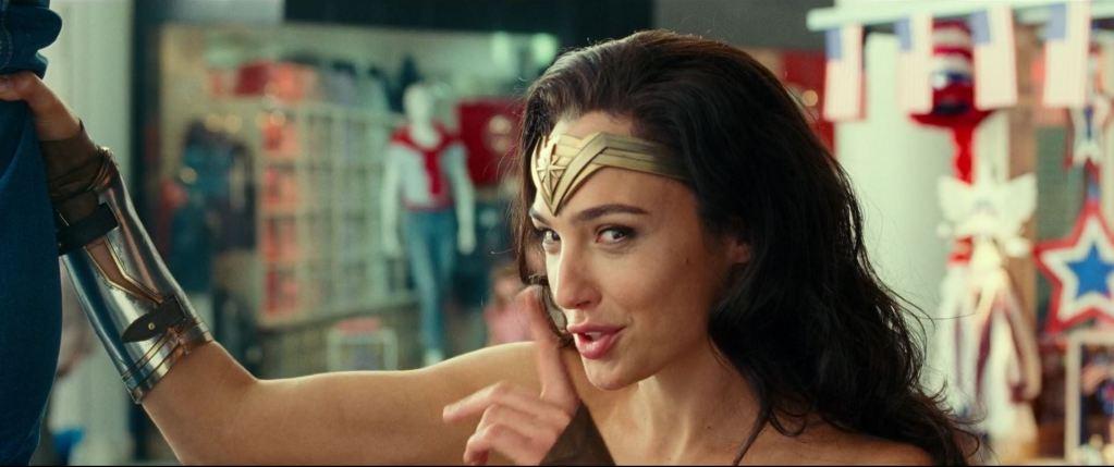 Gal Gadot as Diana Prince on Wonder Woman 1984