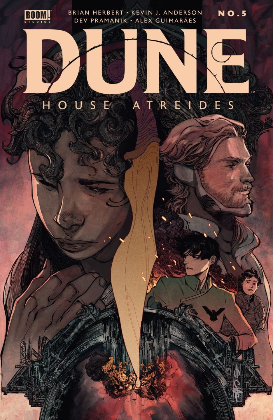 Cover of Dune House Atreides issue 5 by Boom Studios
