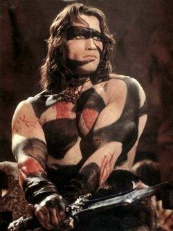 Conan, der Barbar (in Kriegsbemalung)