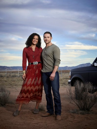 MIDNIGHT, TEXAS -- Season: 1 -- Pictured: (l-r) Parisa Fitz-Henly as Fiji, Dylan Bruce as Bobo -- (Photo by: Virginia Sherwood/NBC)
