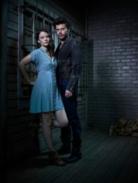 MIDNIGHT, TEXAS -- Season: 1 -- Pictured: (l-r) Sarah Ramos as Creek, Francois Arnaud as Manfred -- (Photo by: Virginia Sherwood/NBC)
