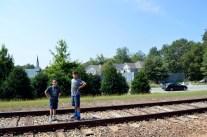 Tracks outside of Alexandria