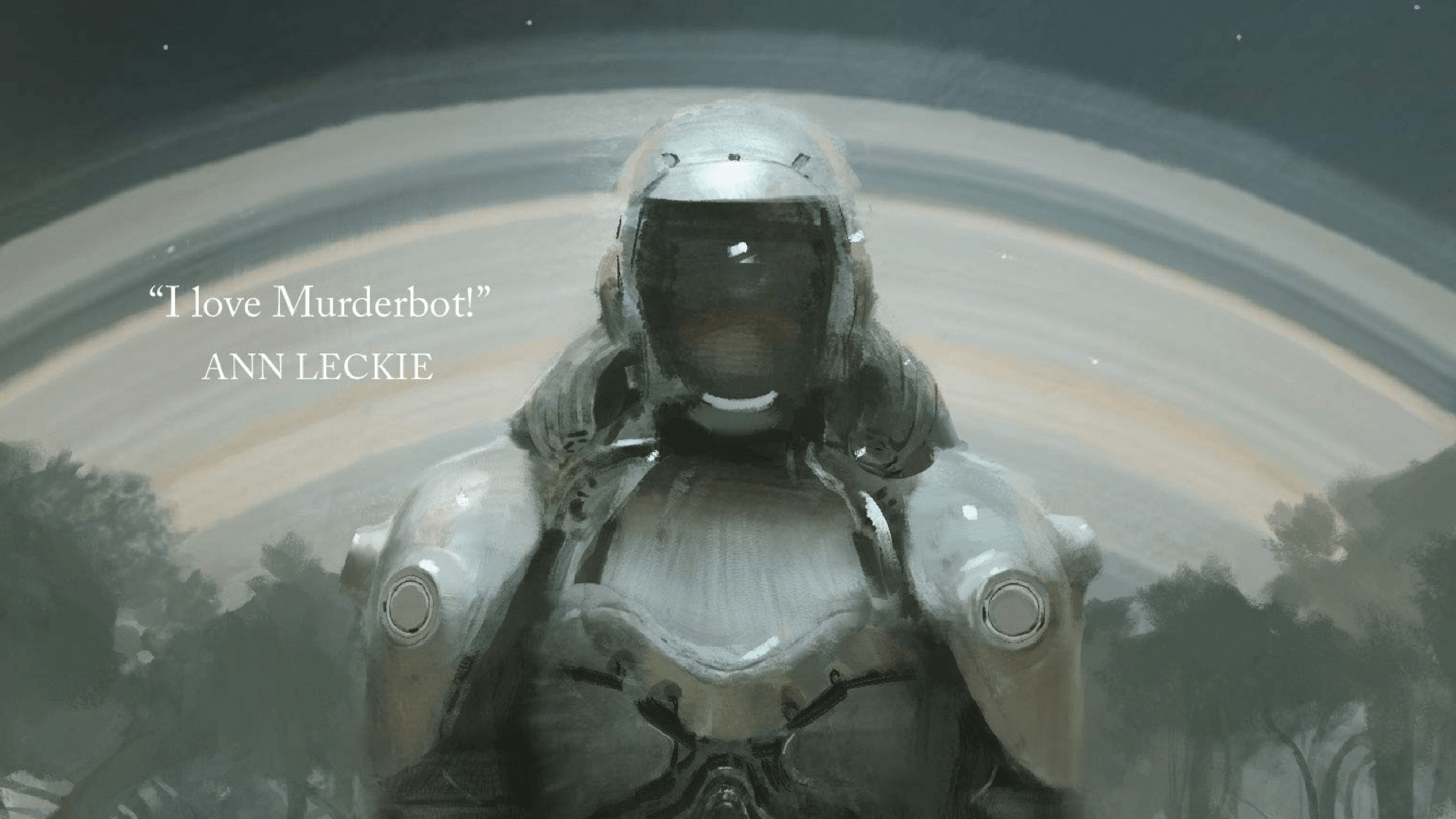 Murderbot on the cover of the novella All systems red