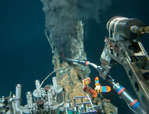 Alvin at the site of hydrothermal vents.