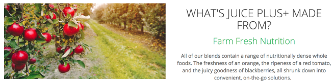 Juice Plus+ website