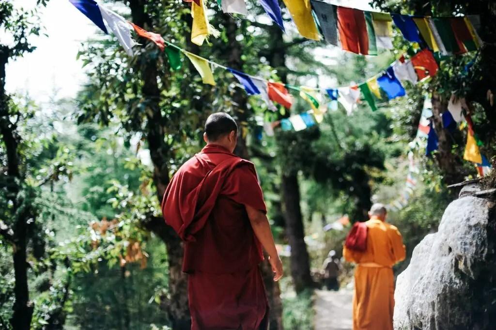 Monks traveling
