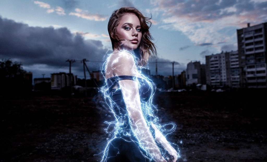 girl with electric supernatural powers