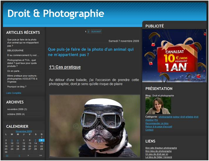 droit et photographies