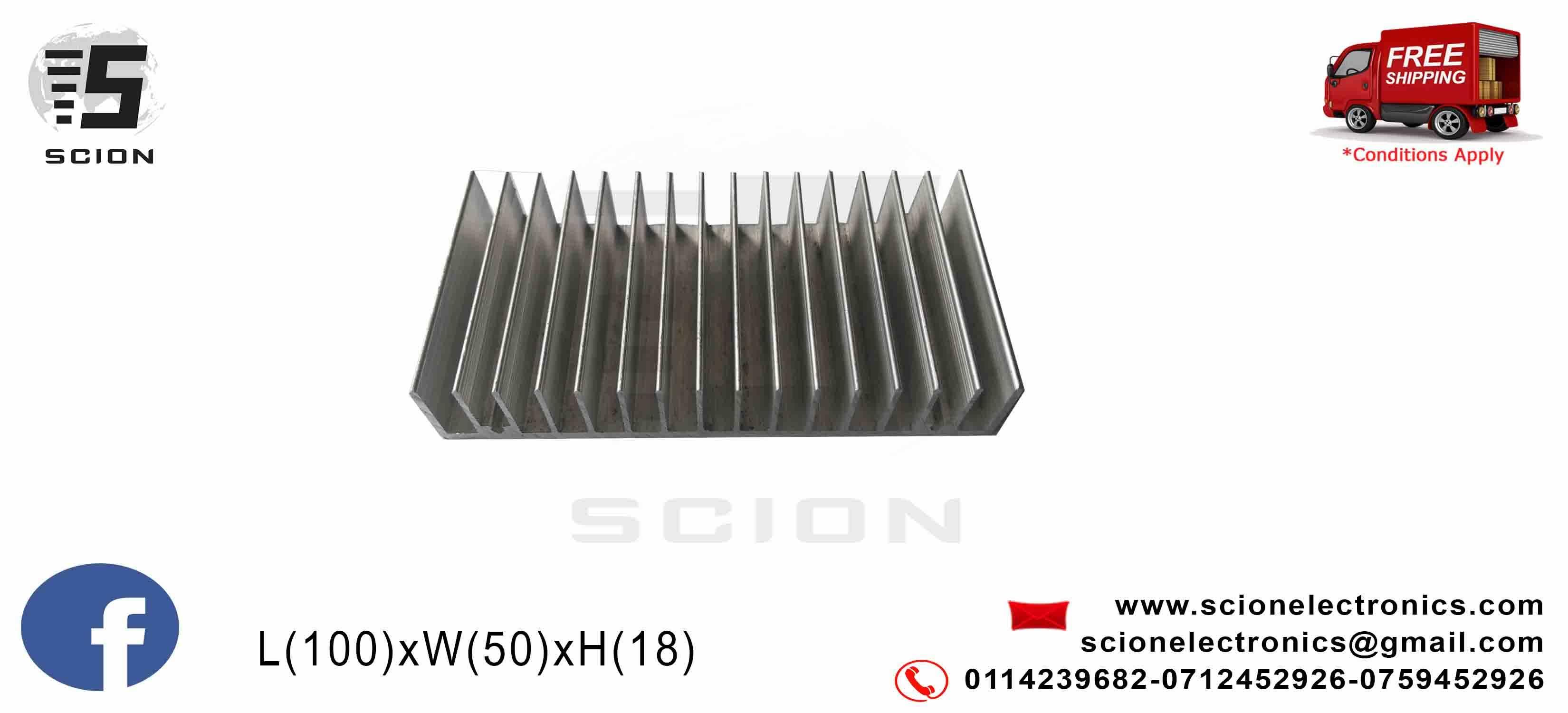 Heat Sink 100x50x18mm Local Scion Electronics