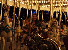 First carousel ride!
