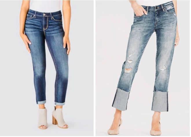 wider cuff vvs small cuff jeans