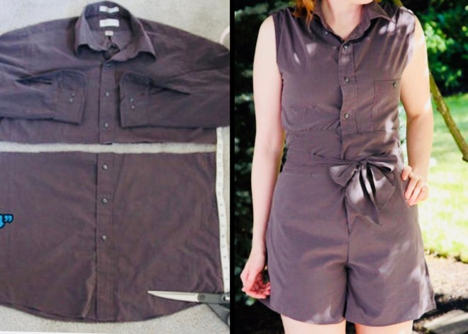 romper from shirt