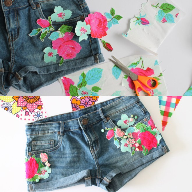 EMBROIDERED SHORTS DIY