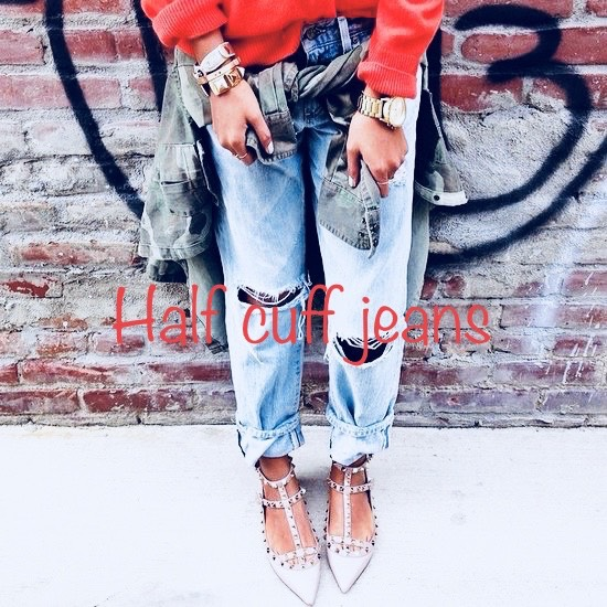 half cuff jeans