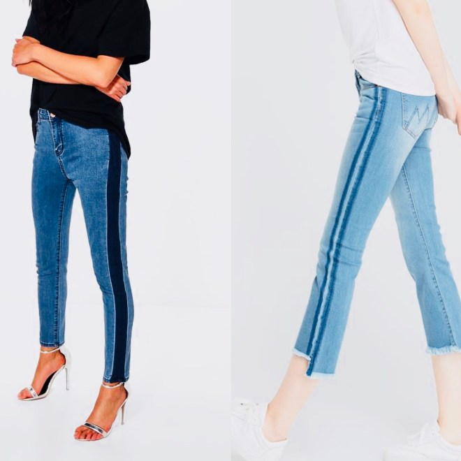 side stripe jeans