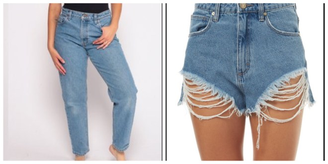 cut jeans into shorts