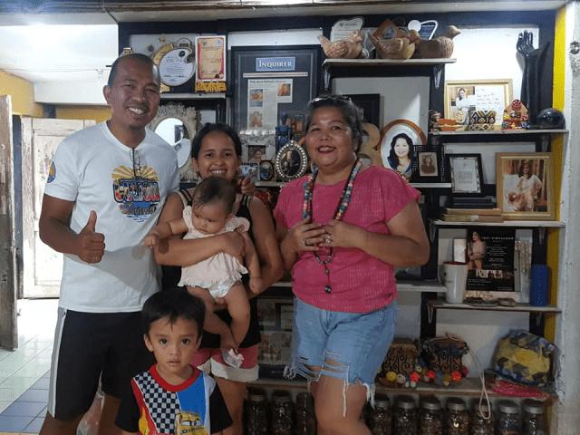 Bernadette De lost Santos and her students