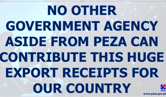 a 1 aa PEZA Plaza says