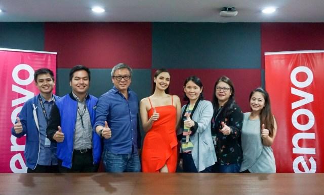 Megan Young with Lenovo executives