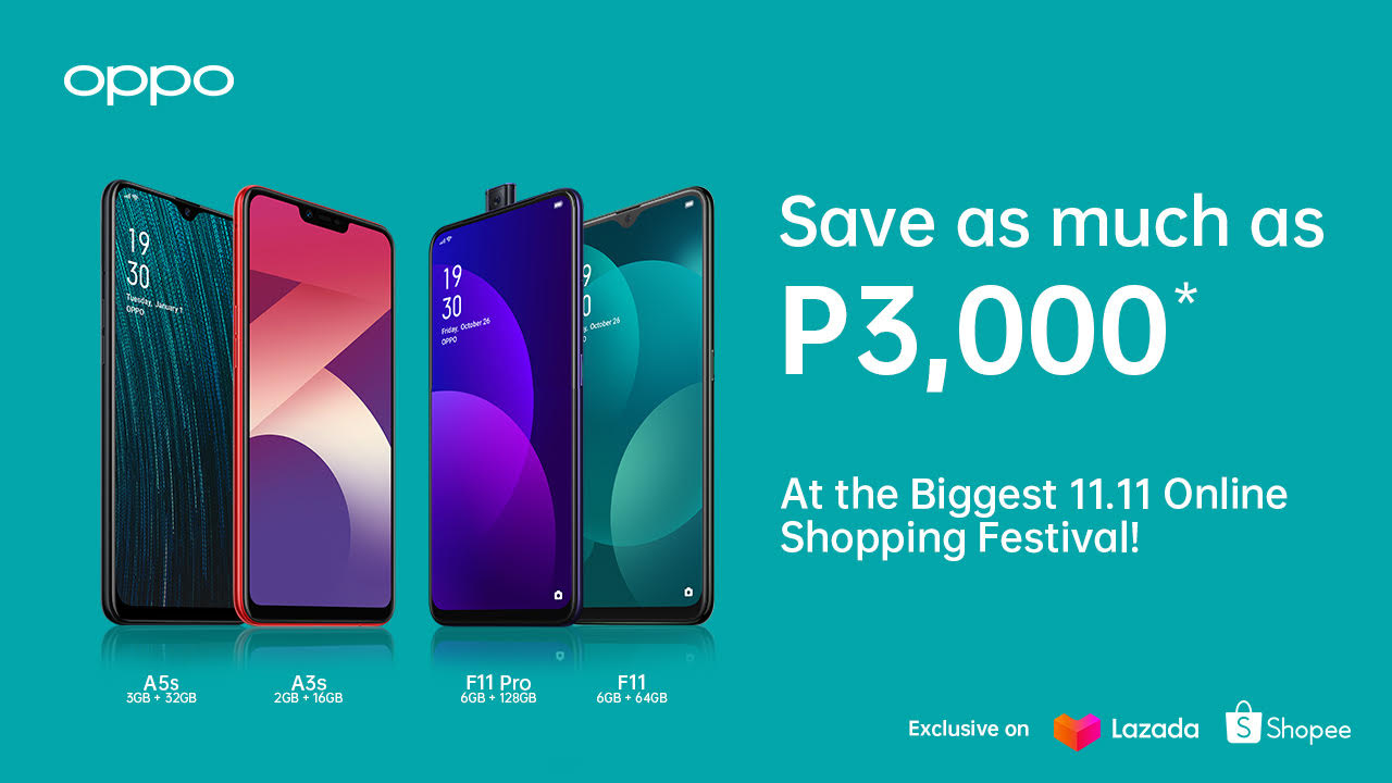 OPPO, 11.11 online shopping, Shopee, Lazada, smartphones