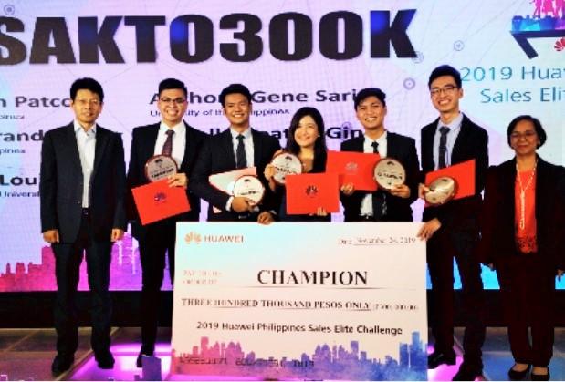 UP, team, Sales Elite Challenge, Huawei Philippines