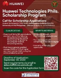 Huawei and UP Scholarship Program.