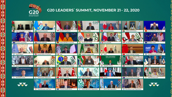 Family Photo from Today's Opening Session of the G20 Riyadh Summit