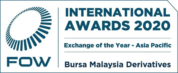Bursa Malaysia Derivatives wins Exchange of the Year - Asia Pacific Award 2020