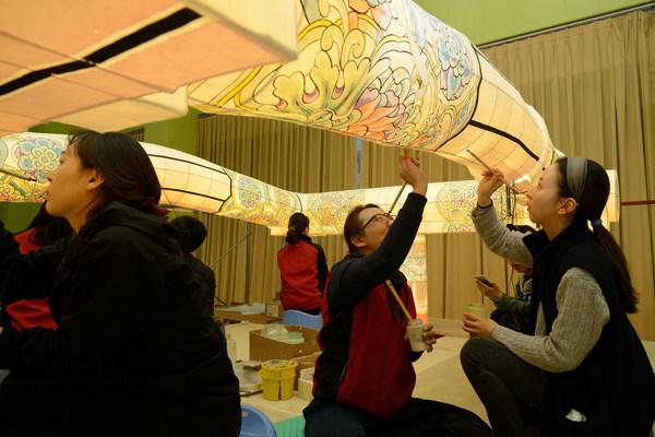Grand Lantern Making of Participating Groups of Lotus Lanterns Parade