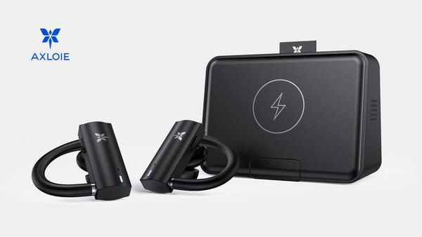 AXLOIE S5 True Wireless Sport Earphones with Professional Sport Earhooks CD-like Audio Quality IPX7 Waterproof & Sweatproof for Gym Workout