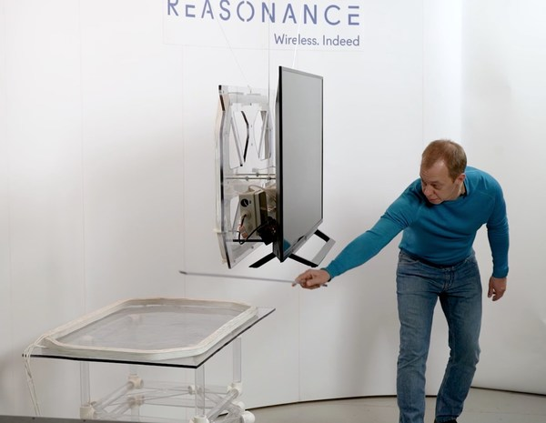 Wireless TV: transfer distance over 50 cm, orthogonal alignment