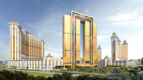 The stunning Raffles at Galaxy Macau exterior