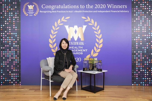 Betty Lee, Chief Product Officer, Life and Health, Sun Life Hong Kong Limited, pictured at the 11th BENCHMARK Wealth Management Awards.