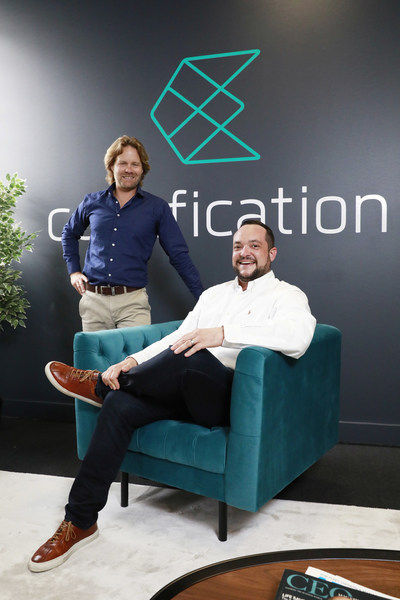 Drew Butler (left) and Daniel Sandaver, co-founders of self-funded tech start-up Codafication.