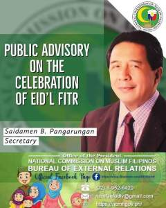 Eid'l Fitr holiday on May 13, 2021.
