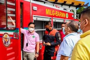 MILF provides firetruck for Datu Piang town.