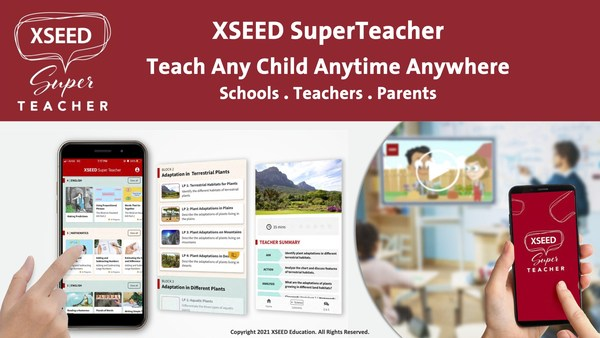The XSEED SuperTeacher app, developed for grade schools and parents, is the best teaching and learning app that delivers high-quality lessons every time with 10,000+ hours of learning content, teaching instructions, curriculum, assessments and online resources to support teaching online classes, face-to-face in classrooms and at home.