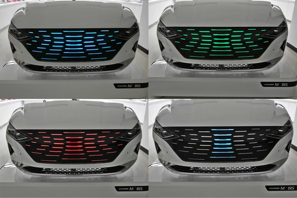 Hyundai Mobis' new 'lighting and moving grille'